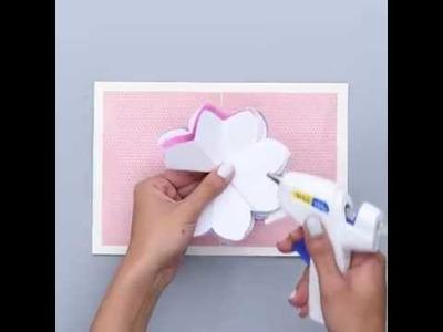 DIY Blooming Flowers Card