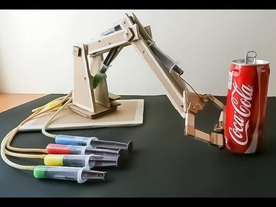 DIY Cardboard Hydraulic Arm