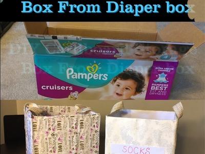 DIY Cardboard storage box From Diaper box