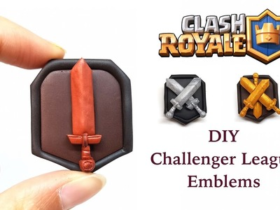 DIY Clash Royale Challenger League Emblems - Polymer clay tutorial