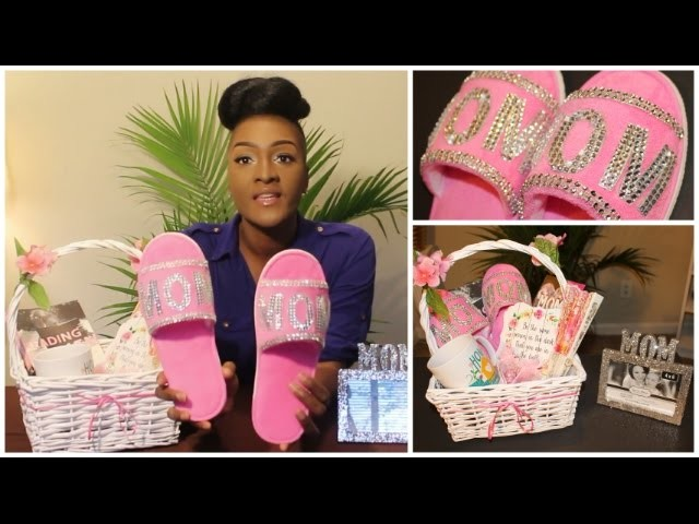 DIY Dollar Tree: BLING MOM SLIPPERS & PICTURE FRAME   MOTHER'S DAY GIFT BASKET    Chanelle Novosey