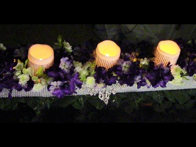 DIY: Dollar Tree Candles & Bling Head Table Center Piece DIY Wedding Series Wk5