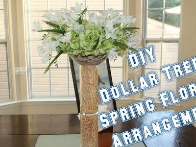 DIY Dollar Tree Floral Arrangement | I Am TeeJaay