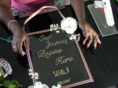 DIY: Dollar Tree Glass Personalized Floating Entrance Sign DIY Wedding Series Wk4