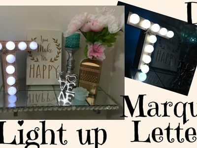 DIY DOLLAR TREE LIGHT UP MARQUEE LETTER