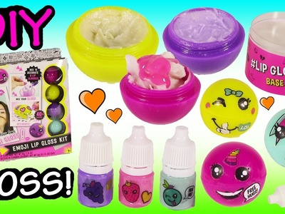 DIY Emoji LIP BALM Kit! Mix & Make Your Own Sweet Fruit Scented GLOSS! Surprise MYSTERY Squishy!