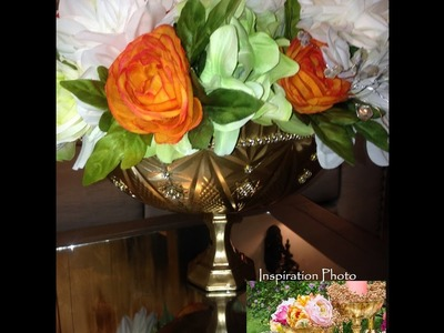 DIY Flower Pedestal Bowl
