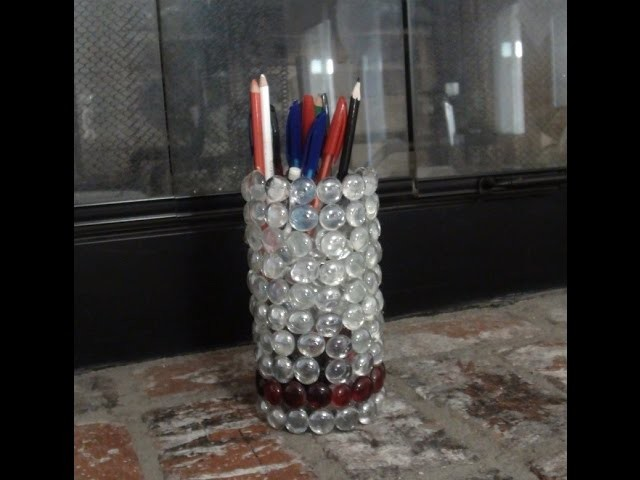 Diy flower vases decor pencil holder my crafts and diy projects Diy home decor flower vase