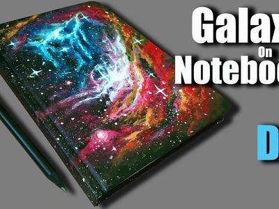 DIY | Galaxy On Notebook | Timelapse Art