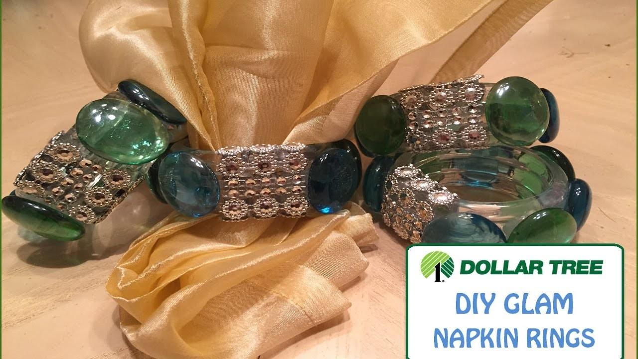 DIY GLAM   DOLLAR TREE   DIY BLING Napkin Rings   DIY Weddings