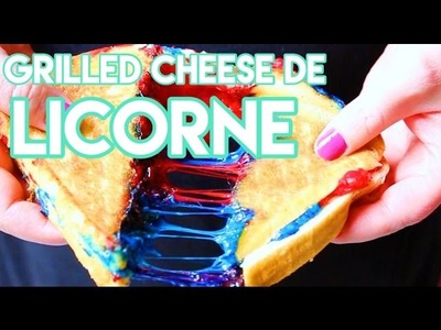 DIY GRILLED CHEESE DE LICORNE ???? CUISINE LOL ???? UNICORN GRILLED-CHEESE - RECETTE. FACILE