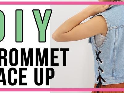 DIY Grommet Lace Up | QUICK FIX (Resizing A Denim Vest)