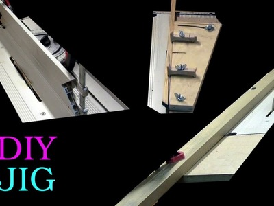 DIY JIGS for the table saw - high fence - tapering jig - long fence