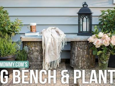 DIY Log Bench & Planter | OUTDOOR DIY + DECOR CHALLENGE