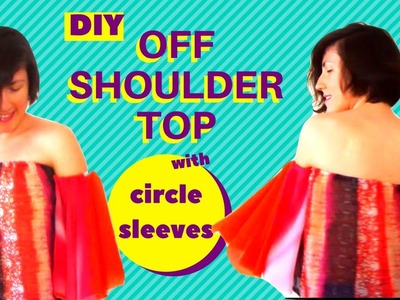 DIY OFF SHOULDER TOP WITH CIRCLE SLEEVES (EASY!)   Becky's DIY Solutions