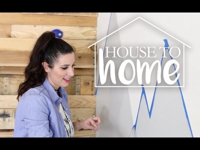 DIY PALLET CLIMBING WALL + MOUNTAINSCAPE | Shared Boy's Room | House to Home Episode 3