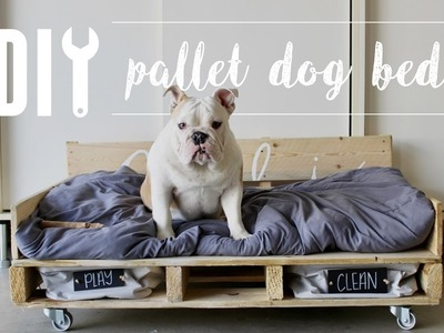 DIY Pallet Dog Bed. Home Depot