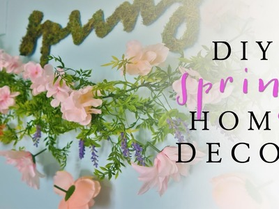 DIY Plant Wall Art  | DIY Spring Room Decor