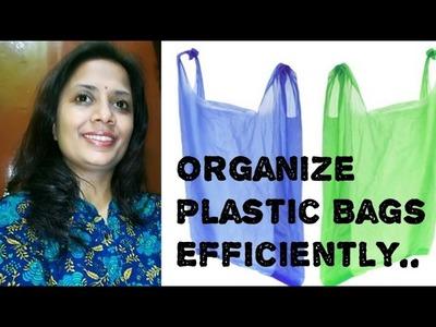 DIY Plastic Bags Dispenser - Make Plastic Bag Organizer
