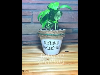 DIY- PUNNY POTS- Painted Pots With Funny Designs-CraftingWhileAdulting.Com