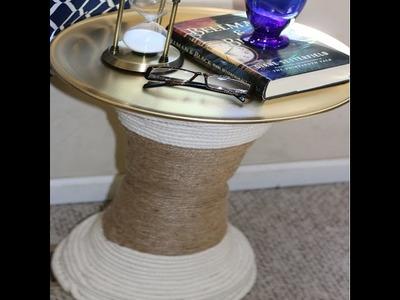 DIY ROPE TABLE DOLLAR TREE