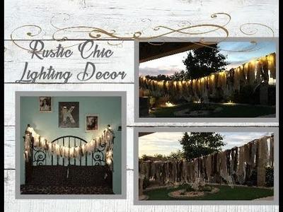 DIY Rustic Country Lighting Decor. .