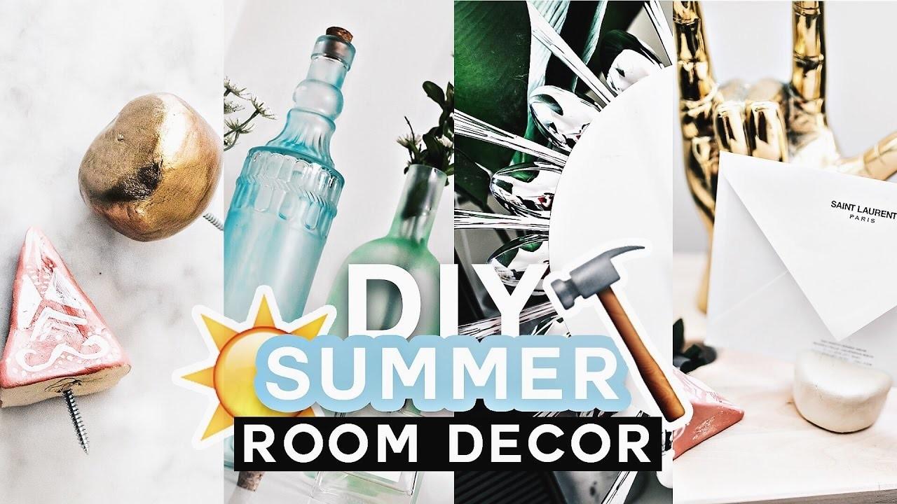 diy summer room decor tumblr inspired 2017 minimal