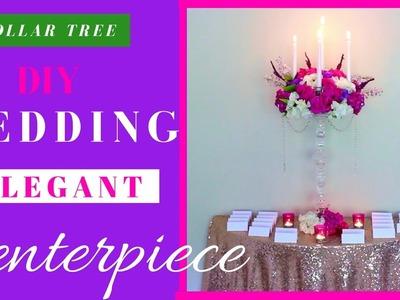 DIY WEDDING DECORATIONS | ELEGANT DOLLAR TREE CANDELABRA CENTERPIECE