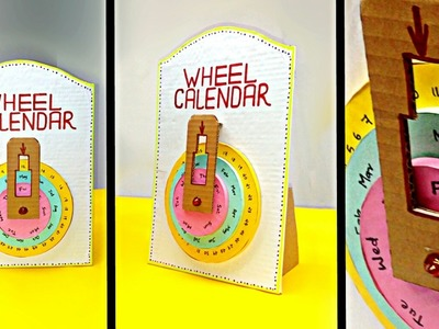 DIY Wheel Calendar From Cardboard