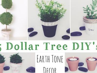 Dollar Tree DIY's | 5 Earth Tone Decor Ideas