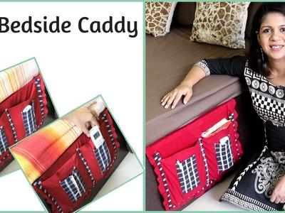 Easy DIY Bedside Caddy - Bedside Pocket Organizer