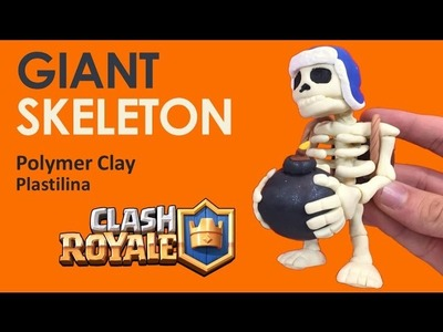 GIANT SKELETON (Clash Royale) - Polymer Clay Tutorial