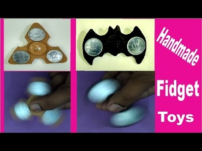 Handmade fidget spinner without bearings   how to make fidget spinner without bearings cardboard