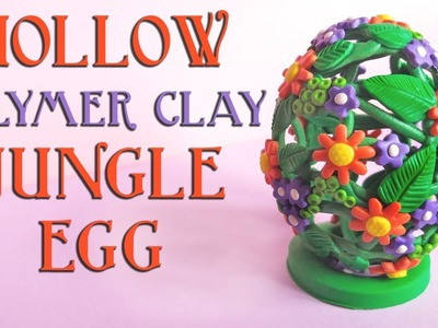 Hollow Polymer Clay Jungle Egg - Exotic Botanicals Collab