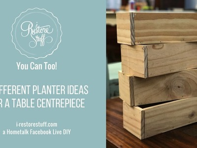 Hometalk Live DIY - 3 Table Centerpiece Planter Ideas