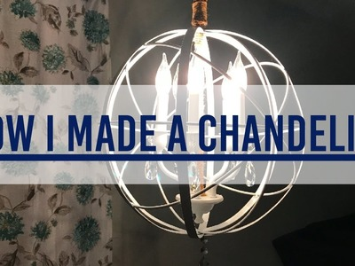 HOW I MADE A DIY CHANDELIER - Dining Room Makeover Part 1