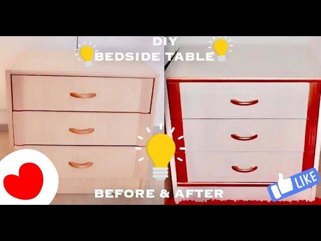 How To Make a Bedside table. Nightstand DIY | easy simple bedroom decor idea hacks | PART - 1