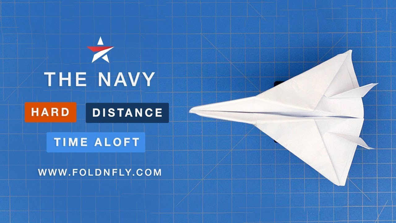 how to make a jet fighter paper airplane fold n fly