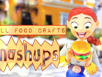 Mash Ups: Doll Food Crafts | Paper Crafts | Hamburger | Watermelon | Edible Cakes and More