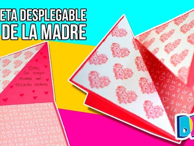 MOTHER'S DAY DIY Card * Tarjeta DESPLEGABLE para el Día de la MADRE ✅  Top Tips & Tricks en 1 minuto