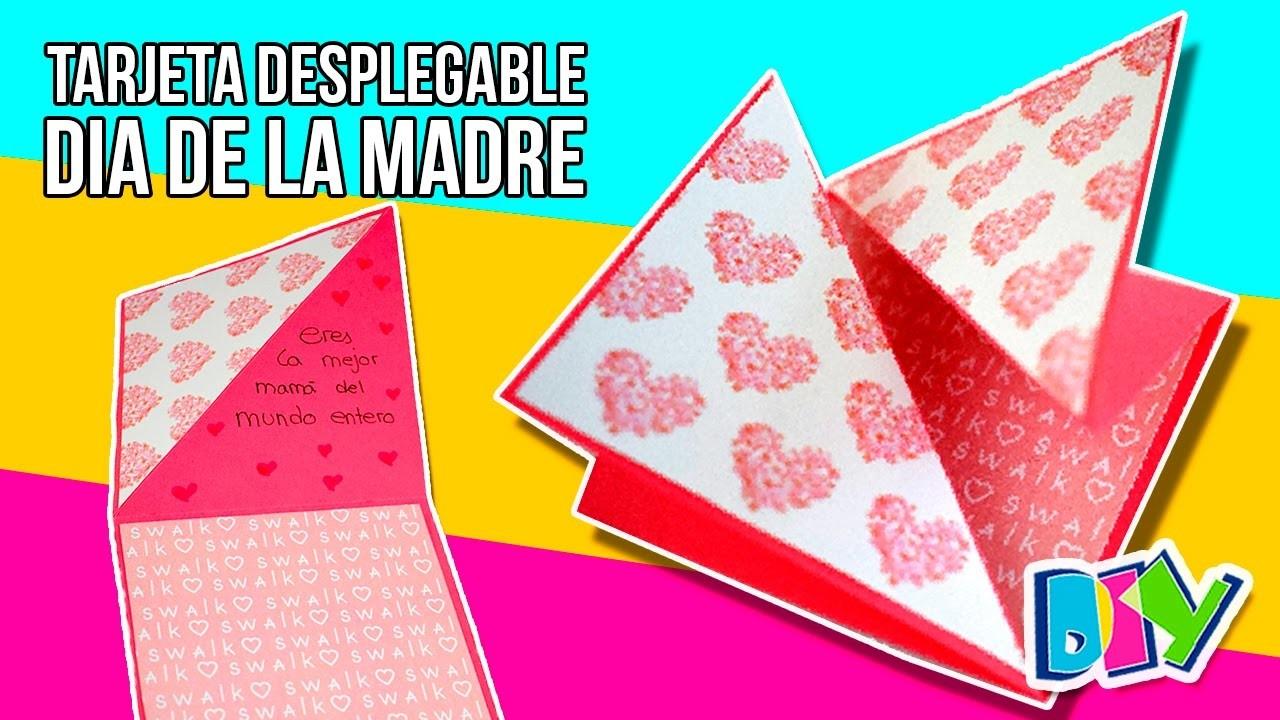 MOTHER'S DAY DIY Card * Tarjeta DESPLEGABLE para el Día de la MADRE ✅  Top Tips & Tricks en 1 minuto