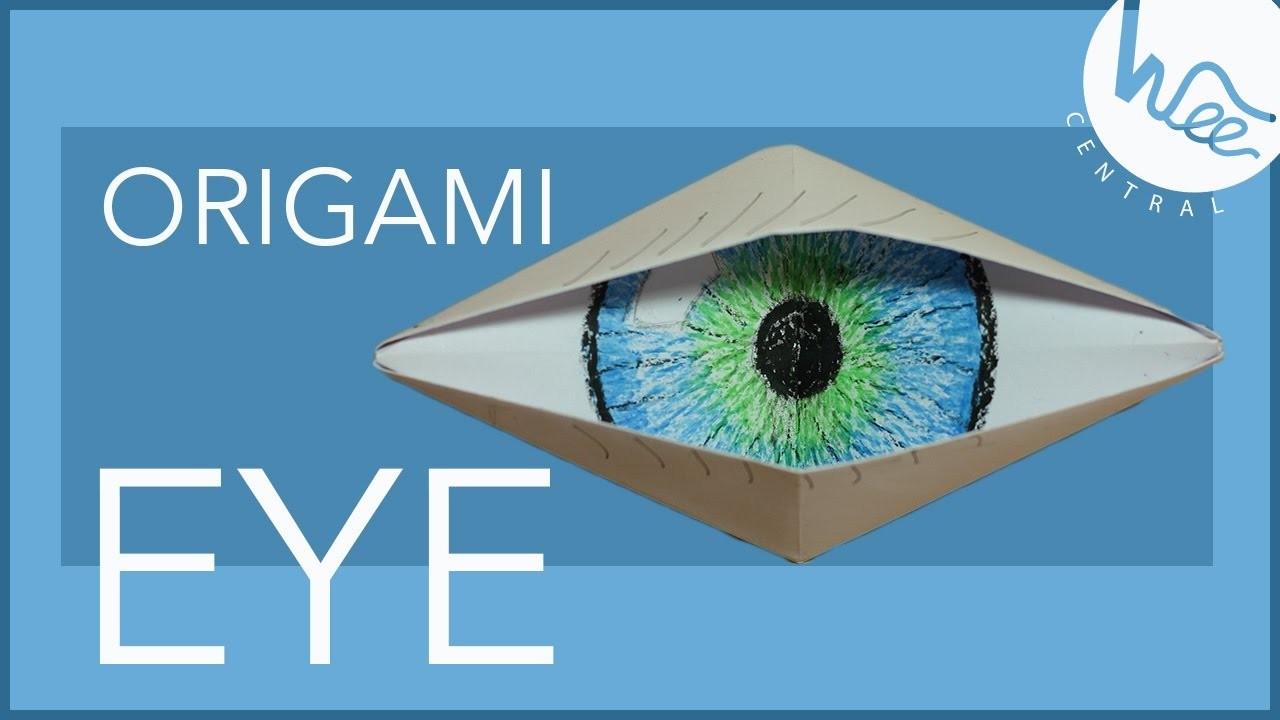 Eye origami krokotak do i look like a cyclope blinking origami eye origami paper origami eye my crafts and diy projects eye origami jeuxipadfo Choice Image