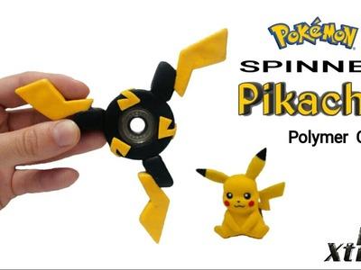 PIKACHU FIDGET SPINNER   Pokemon   Polymer Clay Tutorial