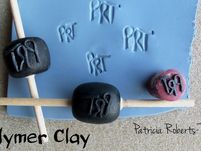 Polymer Clay Initial Stamps