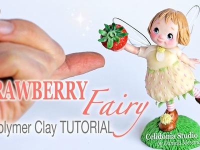 Polymer Clay Strawberry Fairy Tutorial