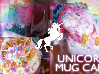 Rainbow Unicorn Microwave Mug Cake with White Chocolate - 2 Minute - Treat Factory