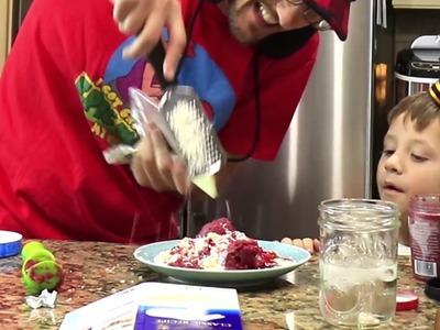 REACTION | DIY ???? SPAGHETTI Ice Cream ???? Dessert! ???? YUM! (FUNnel Vision Kids Cooking Recipes ???? Food