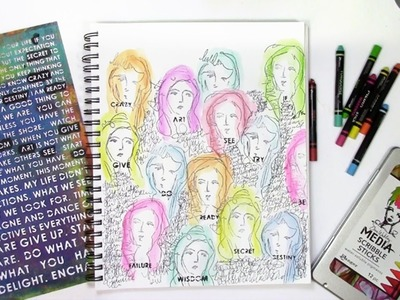 Scribble Sticks, Stamps, and Stencils with the Women of the Rainbow