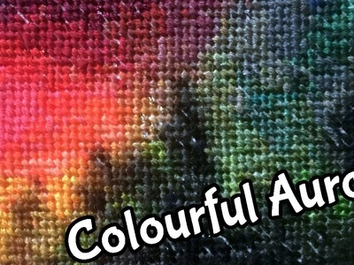 Speed Stitching Rainbow Aurora | Time Lapse Embroidery