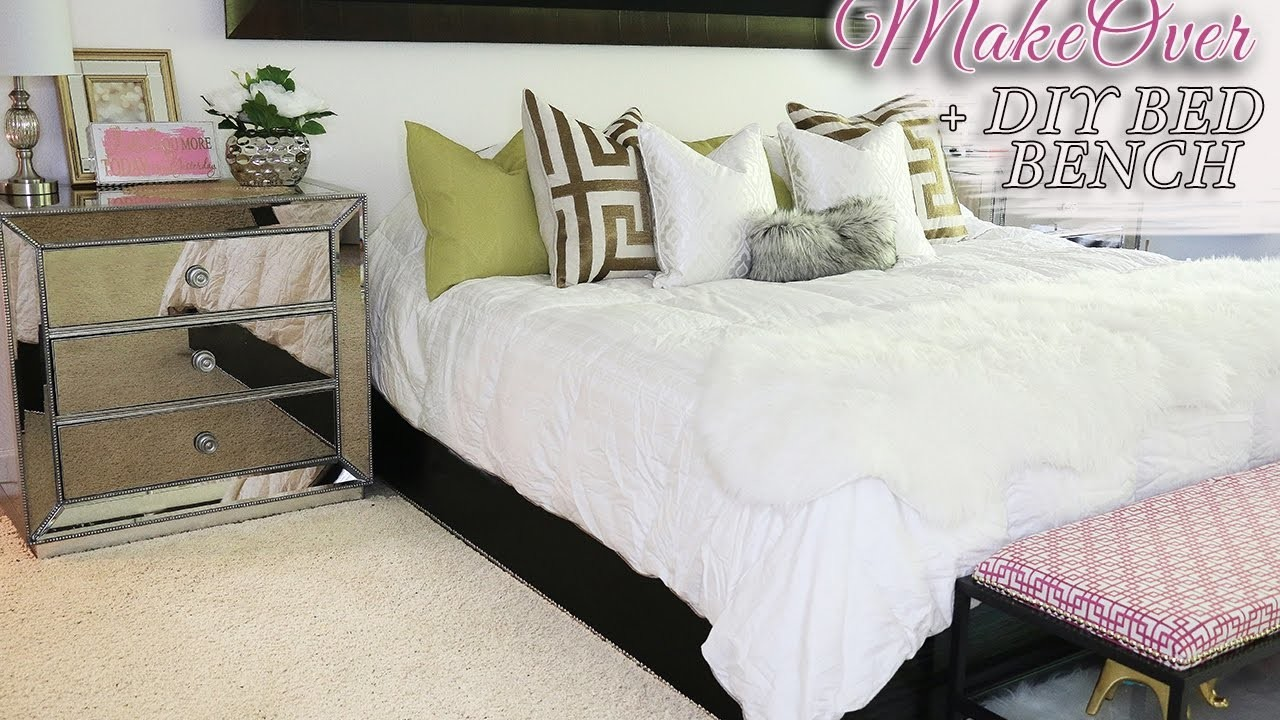 Spring room makeover diy bed bench 2017 my crafts and diy projects - Spring bedding makeover ideas ...
